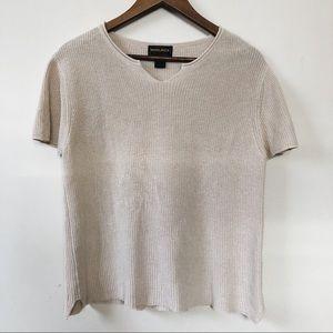 Woolrich Knitted Cream Sweater Short Sleeve Shirt